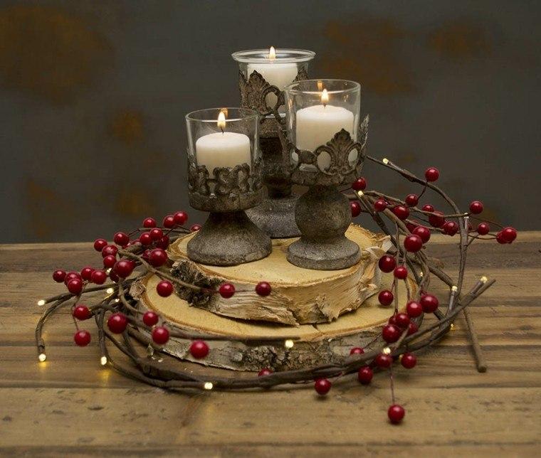 centro mesa candelabros estilo retro