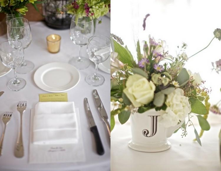 centro de mesa decoracion florales platos