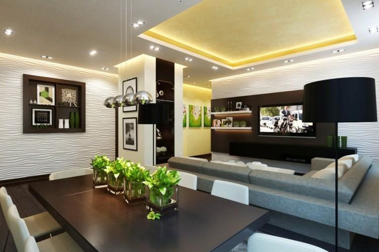 centro de mesa decoracion moderna verde