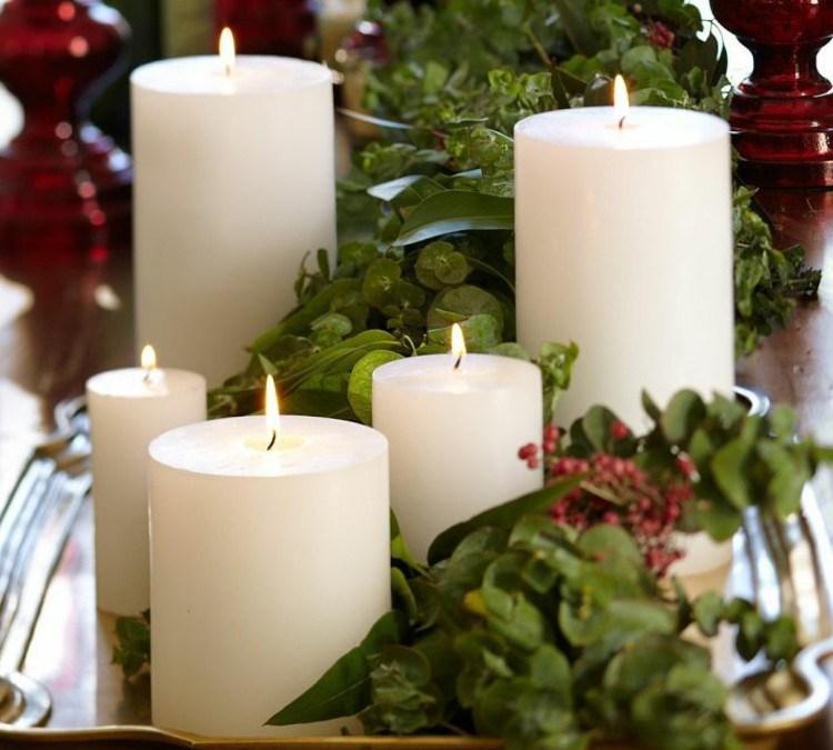 centro de mesa decoracion velas rojo