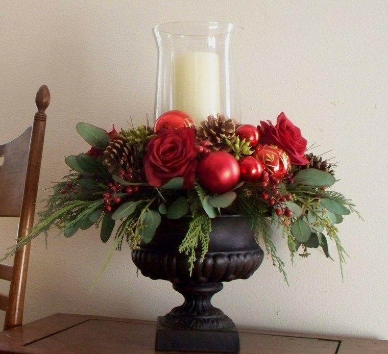 Centros de navidad con velas 50 ideas geniales - Mesa de centro blanca ...