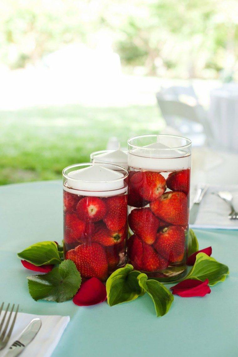 centro mesa velas fresas