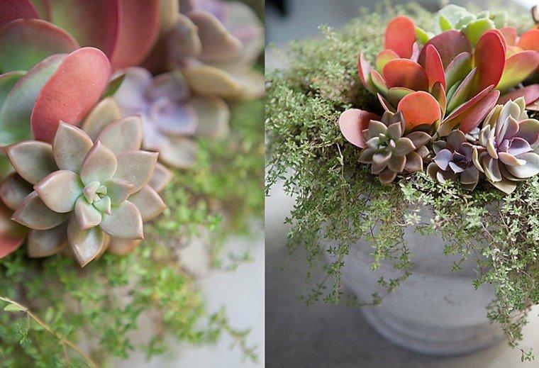 centro de mesa diseño natural
