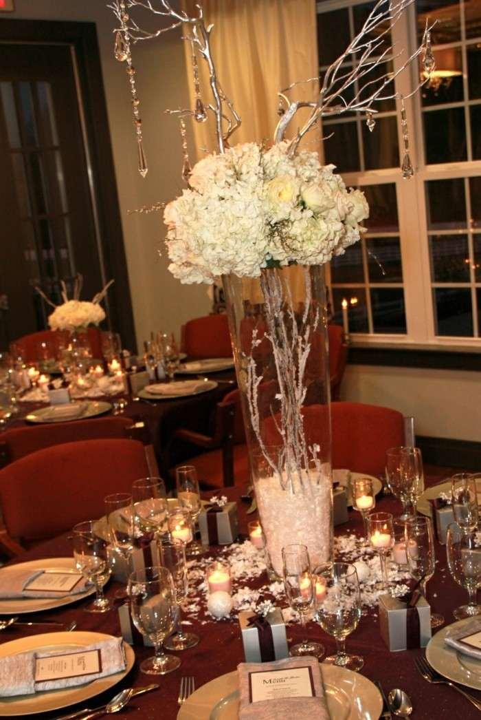 Centros de mesa para bodas 100 ideas maravillosas - Mesa centro de cristal ...