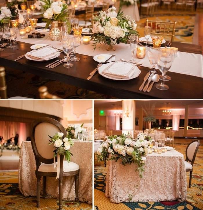 centros mesa bodas preciosos camino mesa blanco ideas