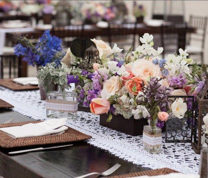 Centros de mesa para bodas 100 ideas maravillosas - Centro de mesa rustico ...