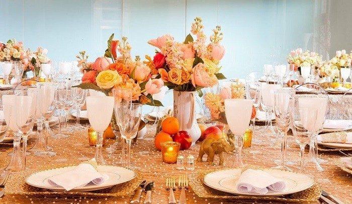 centros mesa bodas preciosos elefantes frutas ideas