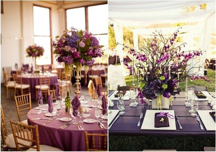 centros mesa bodas preciosos flores alto mesa ideas