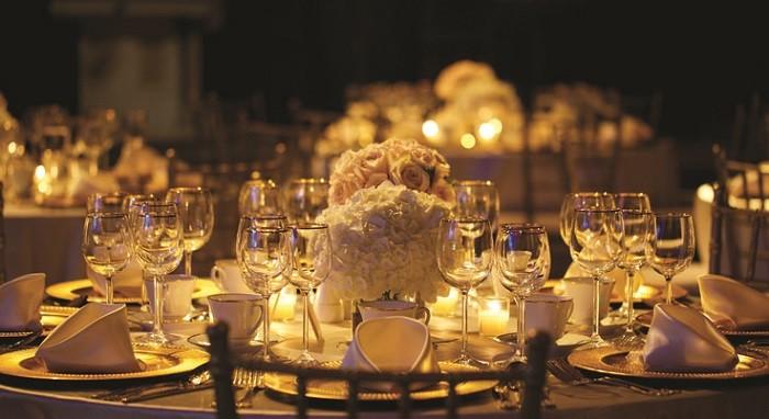 centros mesa bodas preciosos iluminacion romantica ideas