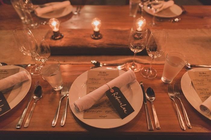 centros mesa bodas preciosos madera lamparas ideas