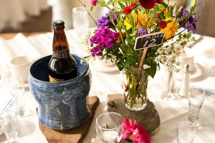 centros mesa bodas preciosos piedras ideas