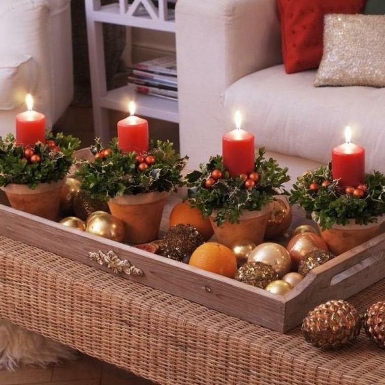 Centros De Navidad Con Velas 50 Ideas Geniales - Centros-de-navidad