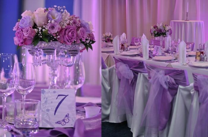 centros de mesa para bodas color purpura ideas