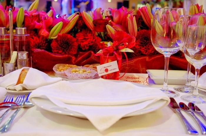 centros de mesa para bodas color rojo ideas