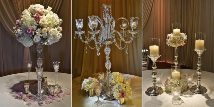 Centros de mesa para bodas 100 ideas maravillosas - Como decorar un cristal de mesa ...