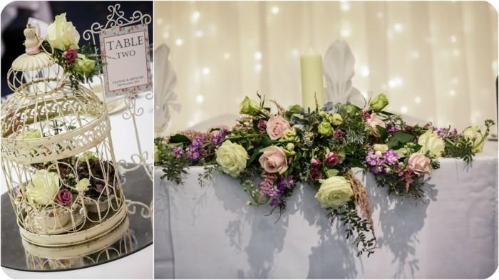 centros de mesa para bodas jaula blanca vintage ideas
