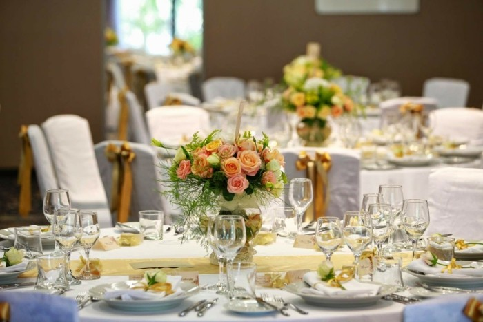 centros de mesa para bodas oro marron ideas