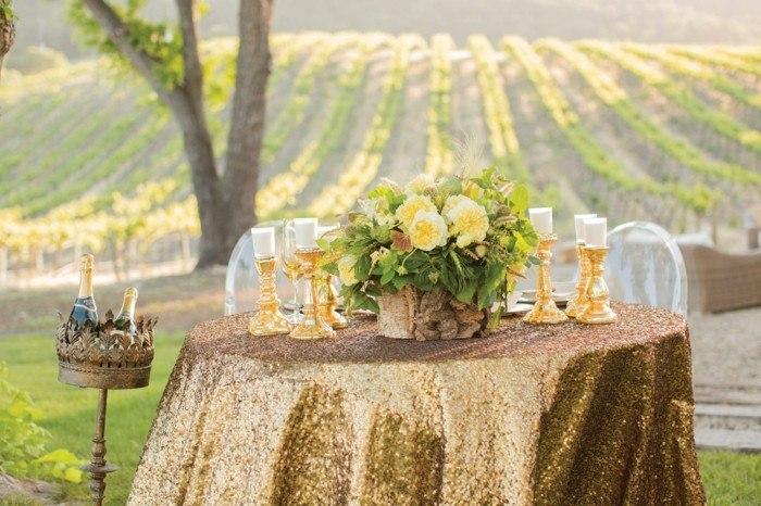 centros mesa para bodas aire libre velas ideas