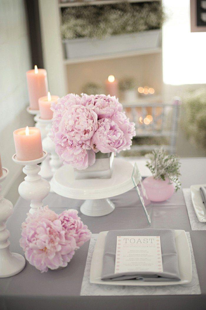 centros de mesa para bodas blanco rosa ideas