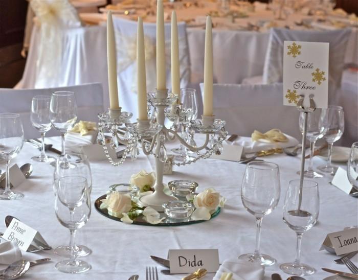centros mesa bodas candelabro precioso ideas