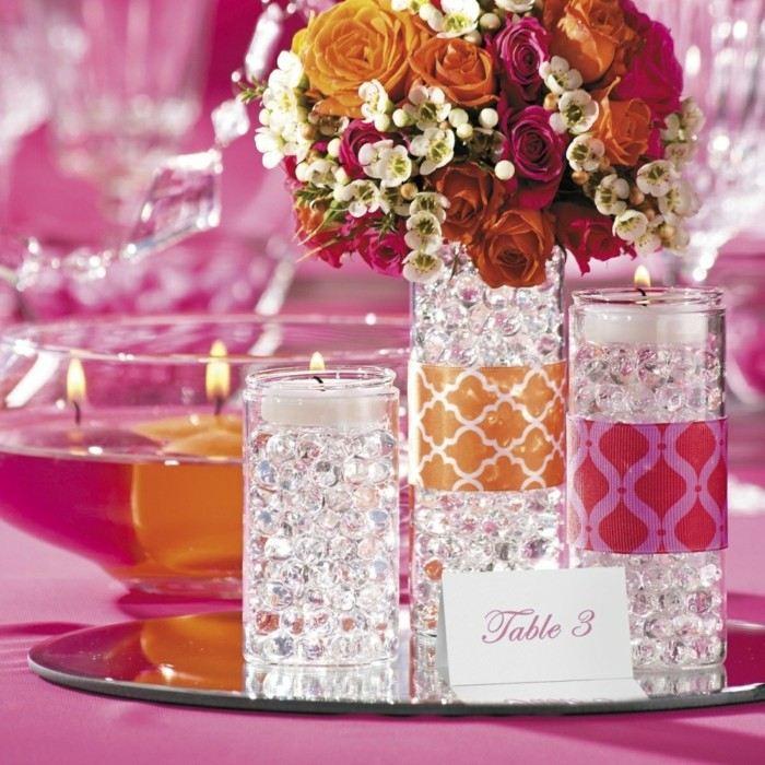 centros mesa bodas candelabros velas ideas