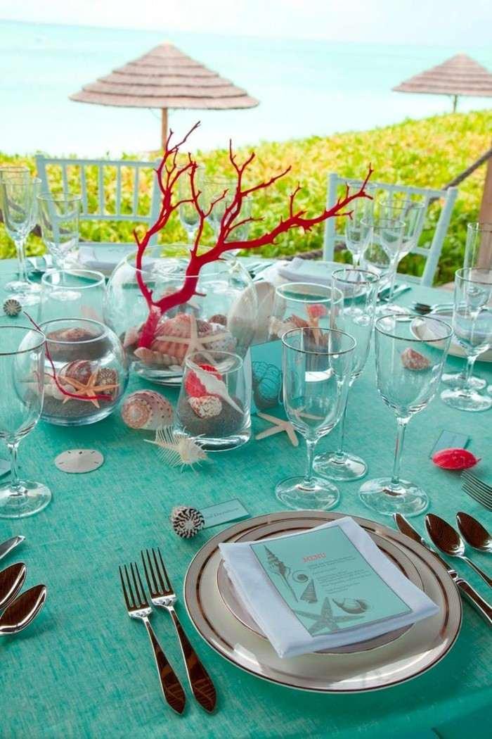 centros mesa bodas conchas ideas