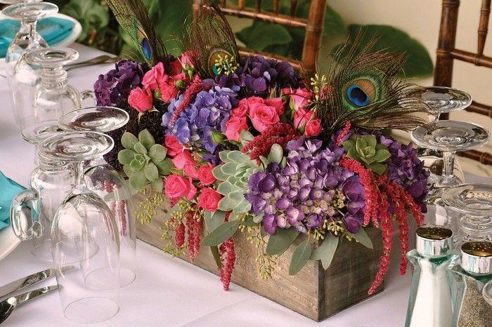 centros mesa bodas estilo rustico ideas