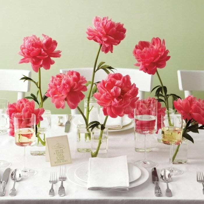 centros mesa bodas estilo simple ideas