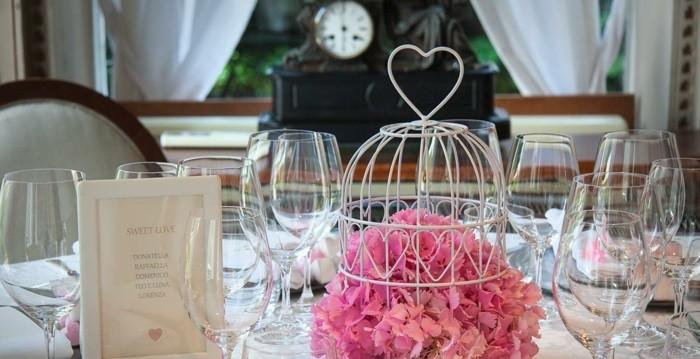 centros bodas jaula blanca flores ideas