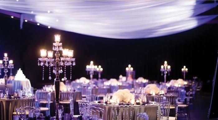 centros bodas lujo negro ideas