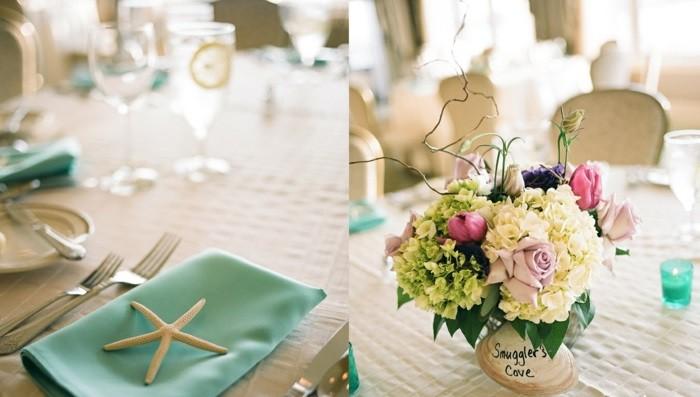 centros bodas mesa boda playera ideas