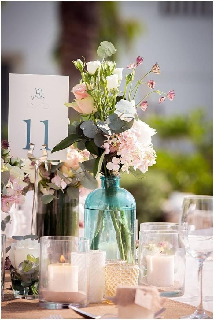 centros mesa bodas opciones modestas ideas