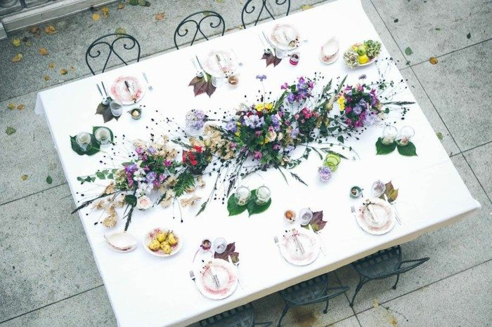 centros bodas plantas preciosas esparcidas ideas