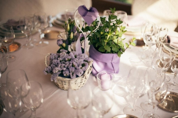 centros mesa para bodas purpura claro ideas