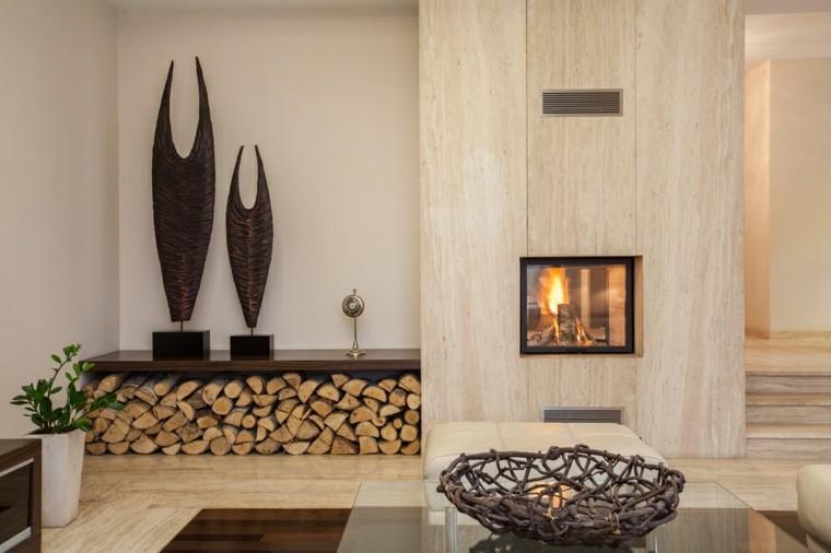 chimenea leña original diseño moderno