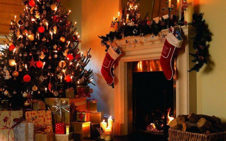 decoración navidad medias rojas
