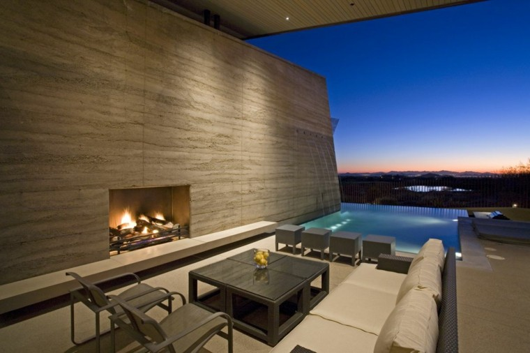 chimenea terraza deco diseño modernmo