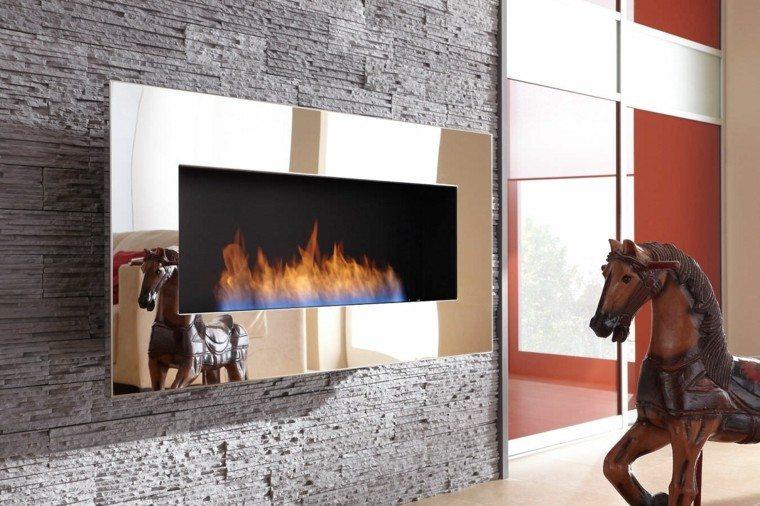 chimenea moderna marco acero