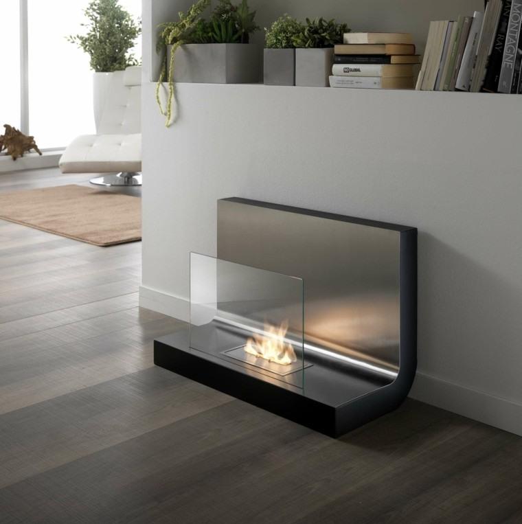 chimeneas de bioetanol estilo minimalista