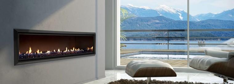 chimeneas diseño moderno estilo lujoso