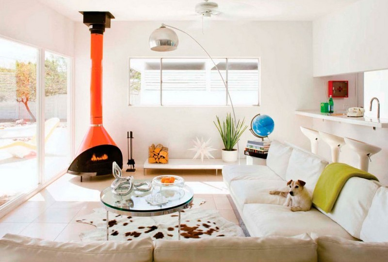 chimenea fuego calor color naranja ideas
