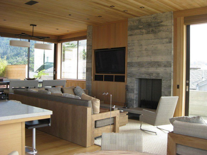 chimenea fuego calor sofas madera ideas