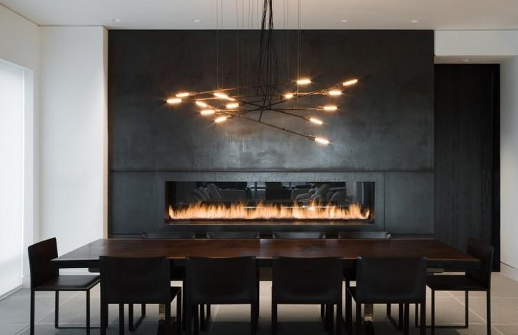 chimeneas modernas decoracion calido metales calido