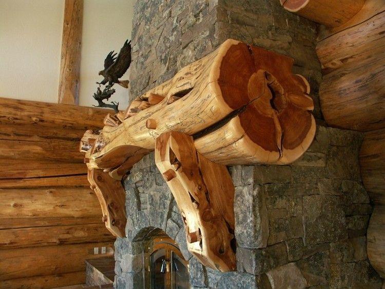 chimeneas rusticas madera detalles aves