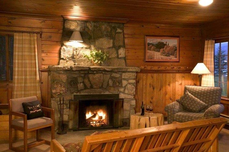 chimeneas rusticas madera madera calido