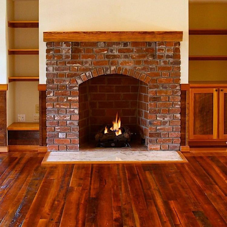 chimeneas rusticas madera pulido ladrillo