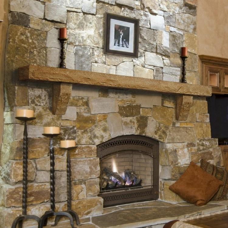 chimeneas rusticas madera rocas metales