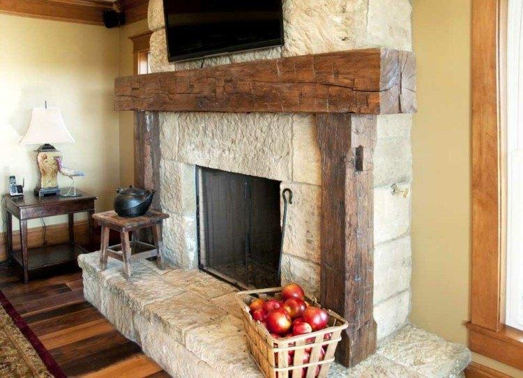 chimeneas rusticas madera suelos frutas