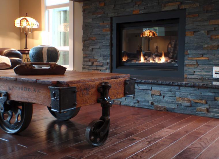 Chimeneas rusticas modernizadas 38 modelos geniales for Hogares a lena rusticos