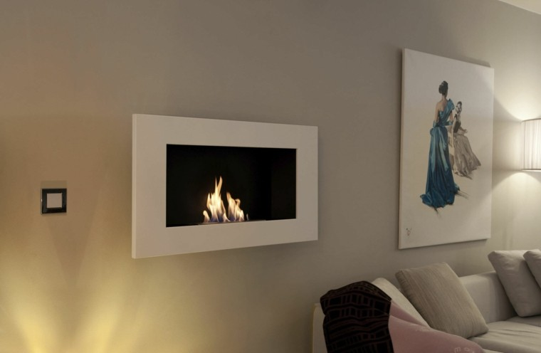 chimene abioetanol pantalla pared
